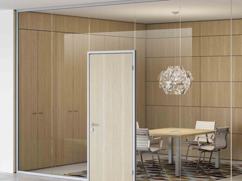 Glass office partition AQUARIUS by CUF Milano
