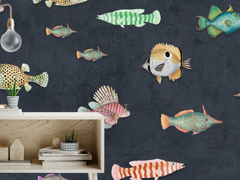 Carta da parati tropicale PVC free, eco-friendly, lavabile AQUATICUS by Wallpepper Group