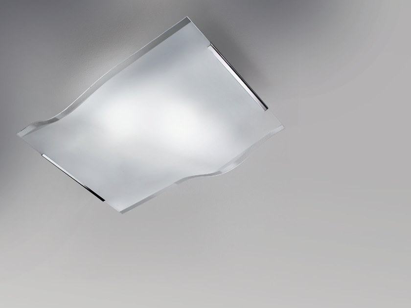 LED crystal ceiling light AQUATTRO by Cattaneo