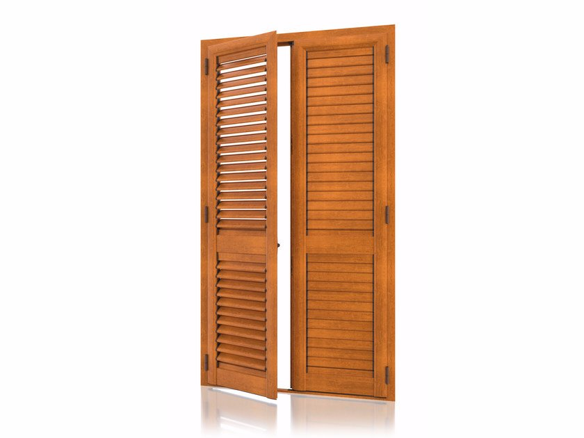 Aluminium shutter with adjustable louvers with overlap louvers ARKUS Overlap Adjustable by Kikau