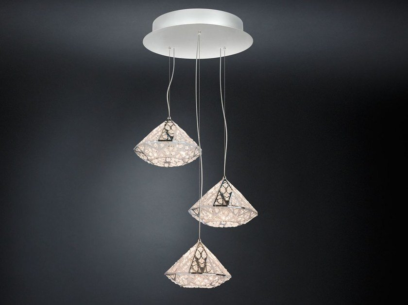 LED steel pendant lamp with crystals ARABESQUE DIAMOND | Pendant lamp by VGnewtrend