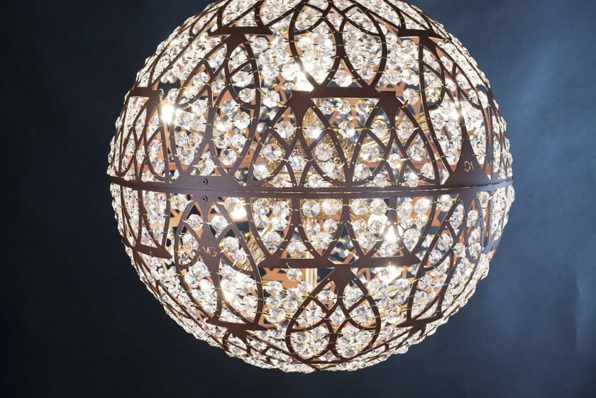 Earth Cristalli Sospensione Arabesque Acciaio Con In Led Vgnewtrend Lampada A nkP80wO