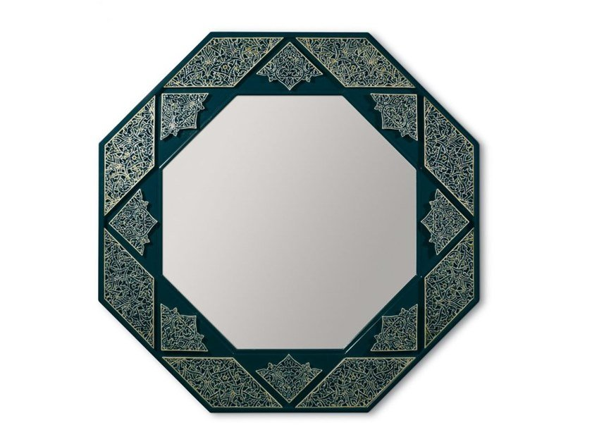 Wall-mounted mirror ARABESQUE EIGHT SIDED WALL MIRROR by Lladró