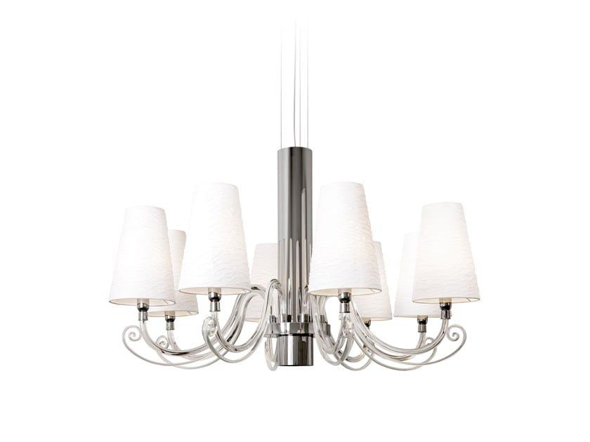 Direct-indirect light crystal chandelier ARABIAN PEARLS H6+1 | Chandelier by ILFARI