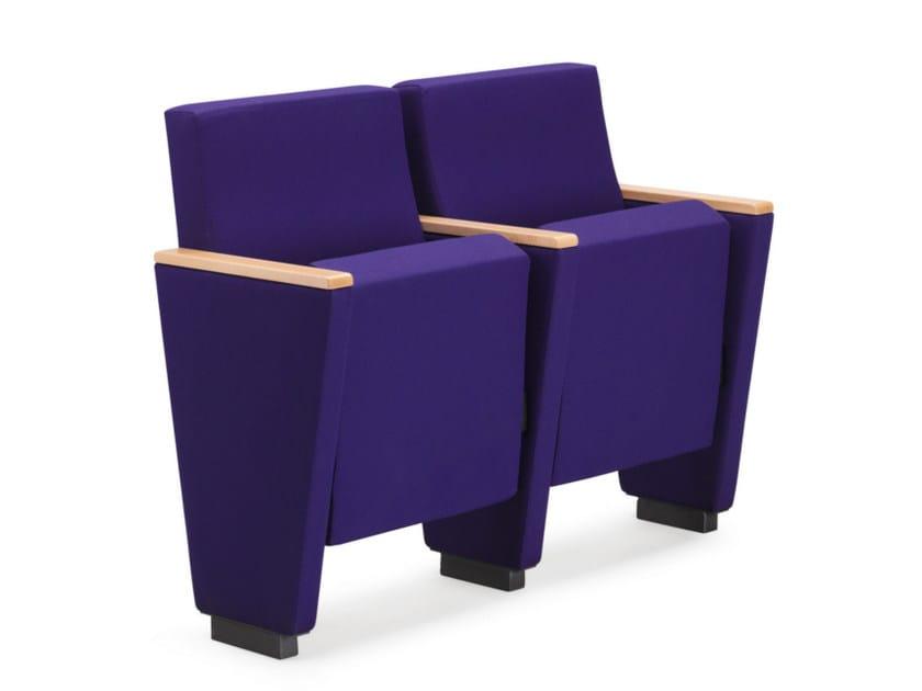 Fabric auditorium seats ARAN 580 by TALIN