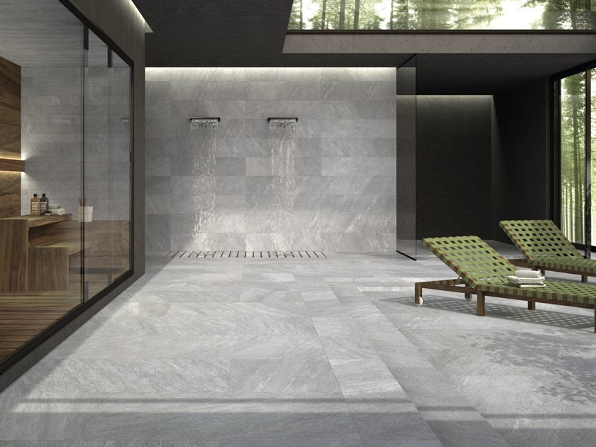 Porcelain stoneware wall/floor tiles ARAN SILVER by CERAMICHE KEOPE