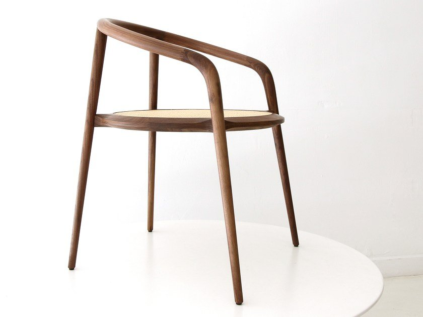 Chair with armrests ARANHA | Walnut chair by Branca Lisboa