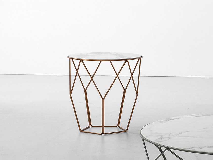 Round ceramic high side table ARBOR | High side table by Bonaldo