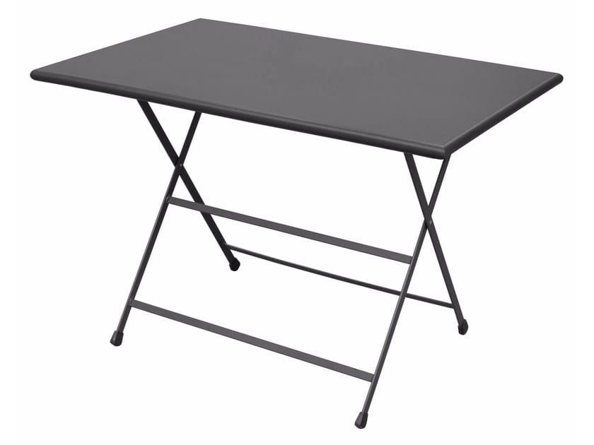 Folding rectangular table ARC EN CIEL by emu