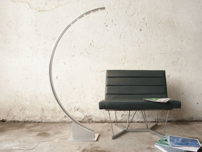 LED aluminium arc lamp with dimmer B.E.S. | Arc lamp by FERROLIGHT DESIGN