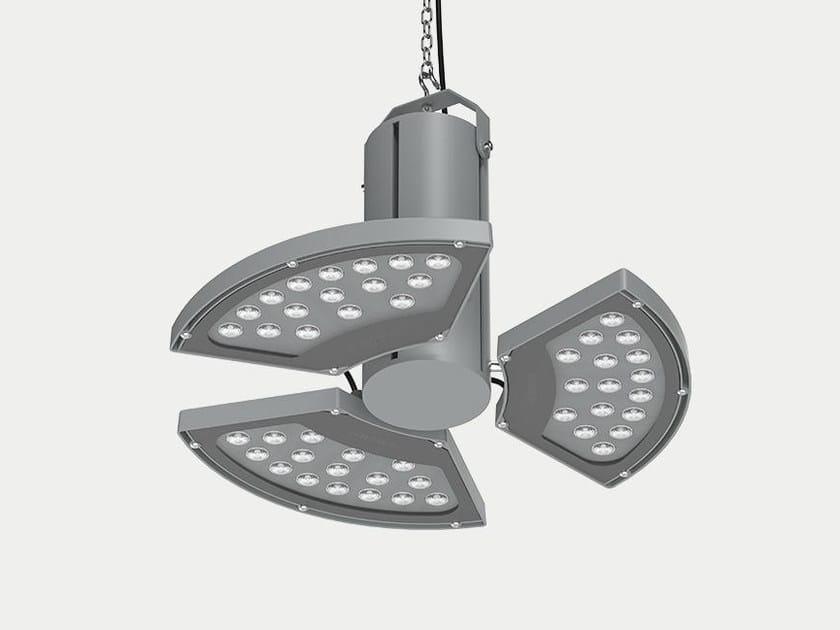 Die cast aluminium pendant lamp ARCH FLOWER MIDI by ES-SYSTEM
