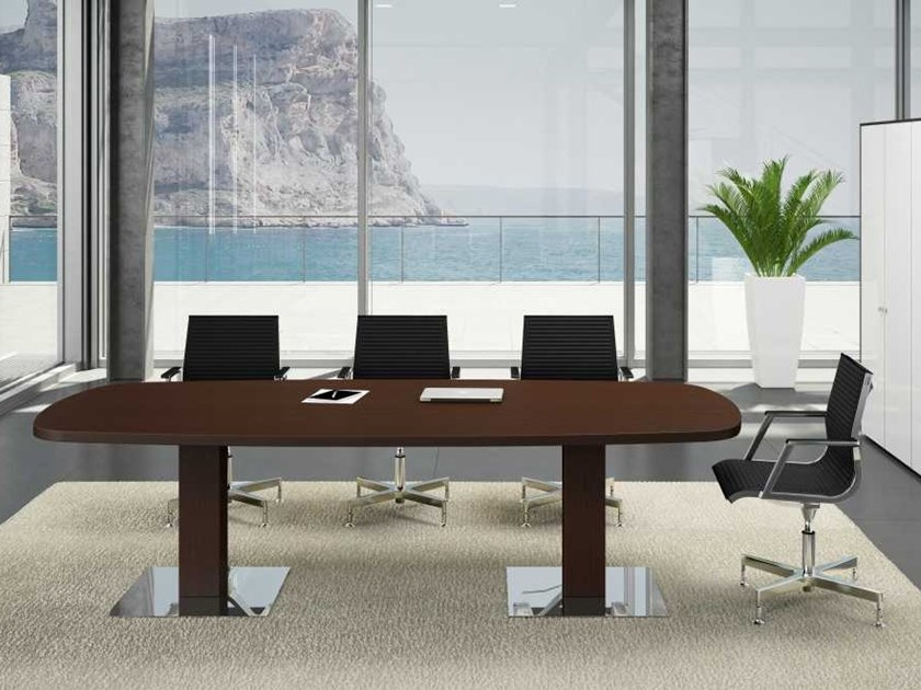 Oval wenge meeting table ARCHE | Meeting table by Bralco