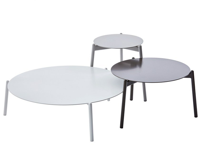 Table basse de jardin ronde en aluminium RING Collection Arche By ...