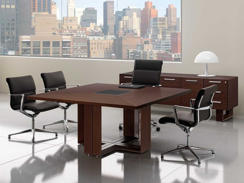 Square wenge meeting table ARCHE | Wenge meeting table by Bralco
