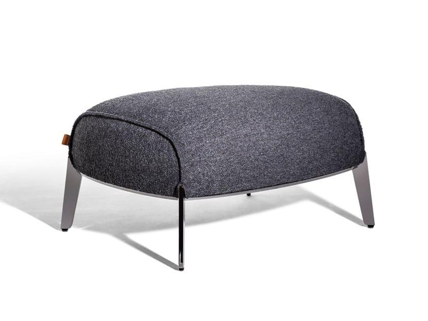 Upholstered fabric footstool ARCHIBALD   Fabric footstool by Poltrona Frau