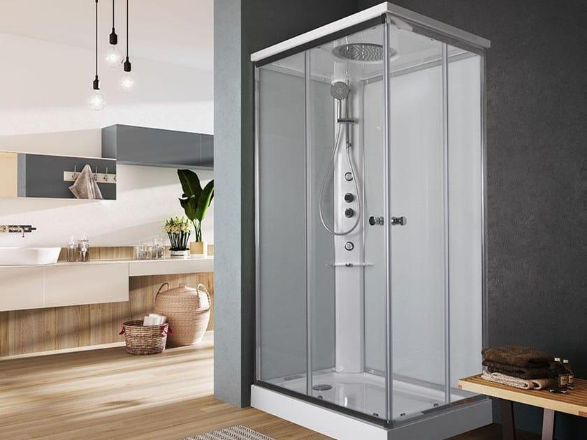 Multifunction rectangular shower cabin ARCHIMEDE | Rectangular shower cabin by Glass1989