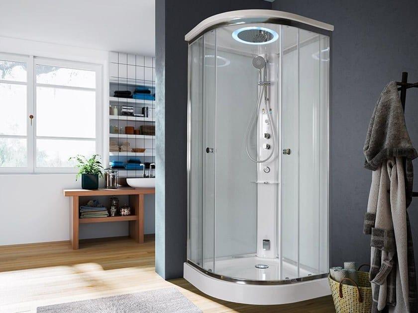 Multifunction semicircular shower cabin ARCHIMEDE | Semicircular shower cabin by Glass1989