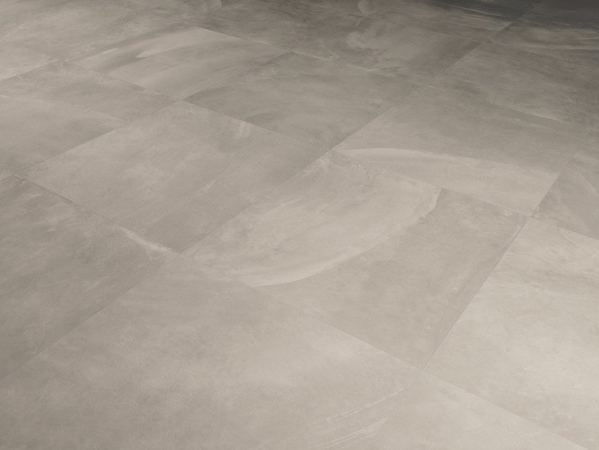 Porcelain stoneware wall/floor tiles with concrete effect ARCHITECT RESIN BERLIN GREY by Ergon by Emilgroup