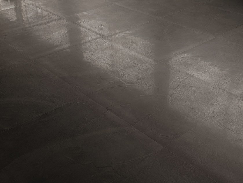 Porcelain stoneware wall/floor tiles with concrete effect ARCHITECT RESIN BRUXELLES BLACK by Ergon by Emilgroup