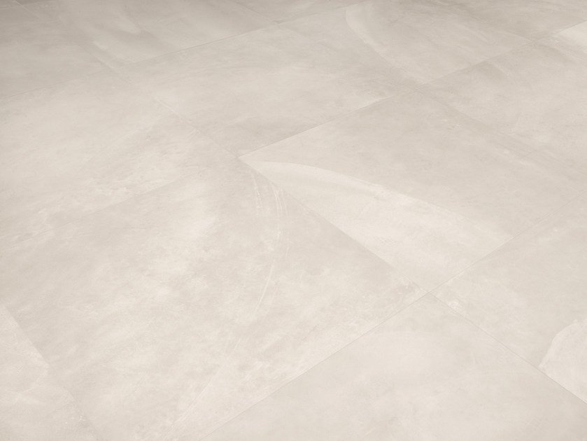 Porcelain stoneware wall/floor tiles with concrete effect ARCHITECT RESIN TOKYO WHITE by Ergon by Emilgroup