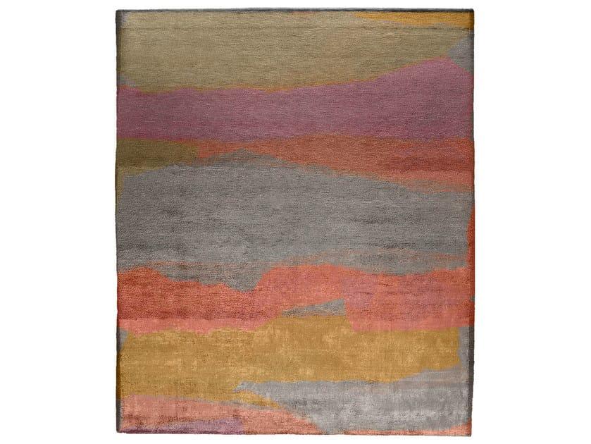 Handmade rectangular rug ARCILE by HENZEL STUDIO