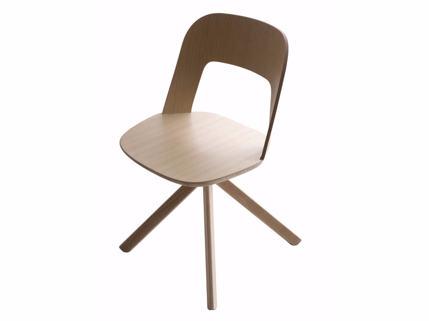 Trestle-based solid wood chair ARCO | Chair by Lapalma