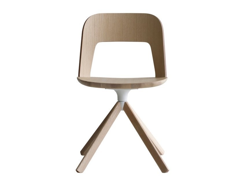 Swivel multi-layer wood chair ARCO | Chair by Lapalma