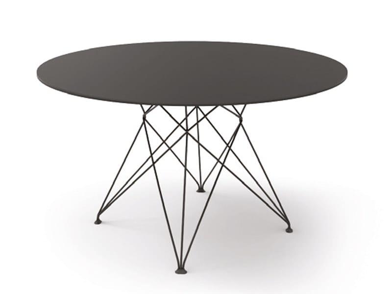 Round linoleum dining table ARCOS by Tonon