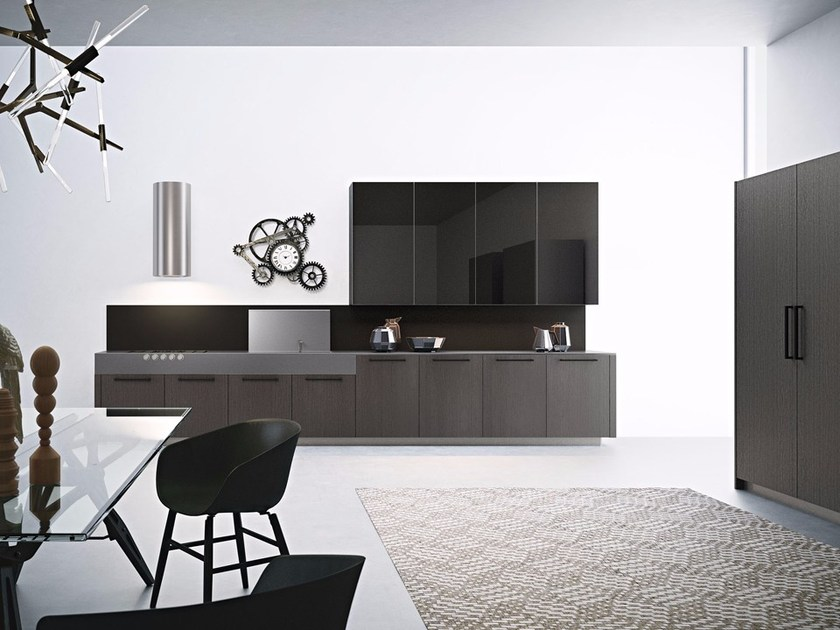 Kitchen unit with handles AREA 22   Kitchen with handles by DIBIESSE