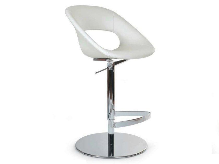 Swivel height-adjustable stool with footrest AREA VIP STOOL by Riccardo Rivoli