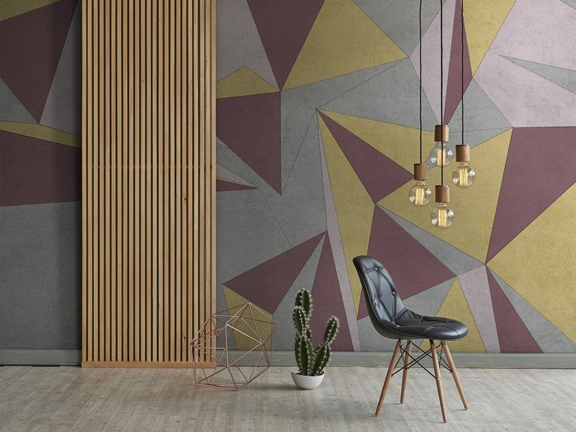 Geometric nonwoven wallpaper AREA by Tecnografica Italian Wallcoverings