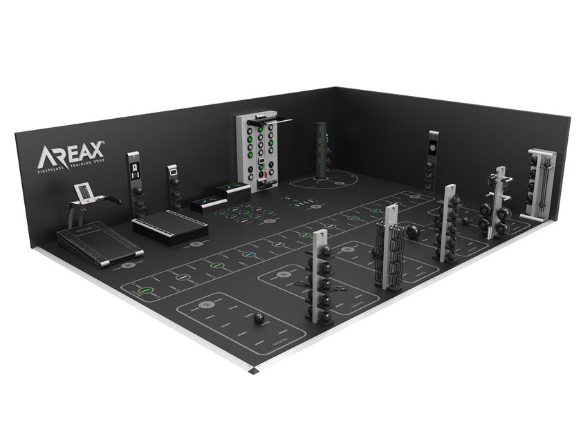 Interactive solution with 2 walls for training for 11 users AREAX INTERACTIVE 11 - 2 WALLS by REAXING
