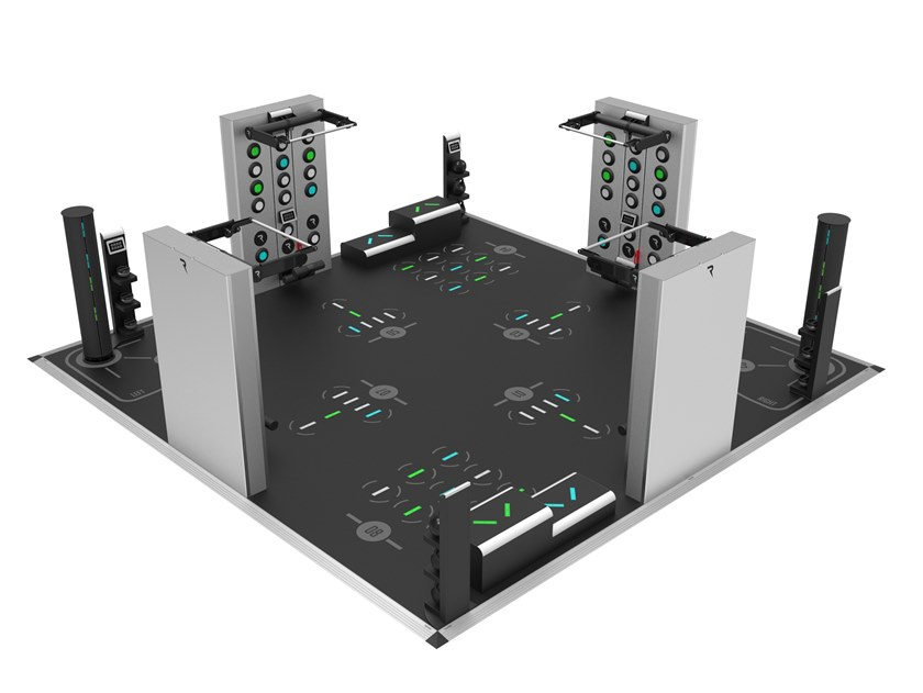 Island interactive space for training for 8 users AREAX INTERACTIVE 8 - ISLAND by REAXING
