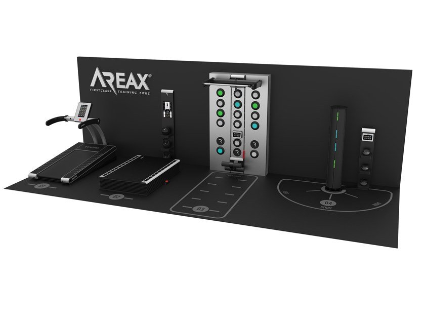 Neurofunctional space solution with one wall for 4 users AREAX NEUROFUNCTIONAL 4 - 1 WALL by REAXING