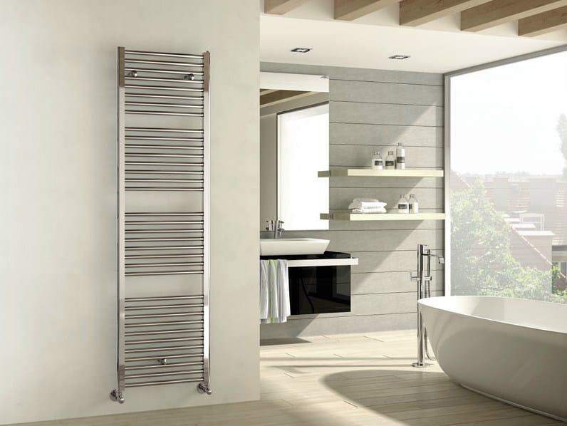Termoarredo cromato in acciaio cromato a parete ares termoarredo cromato irsap - Termoarredo bagno cromato ...