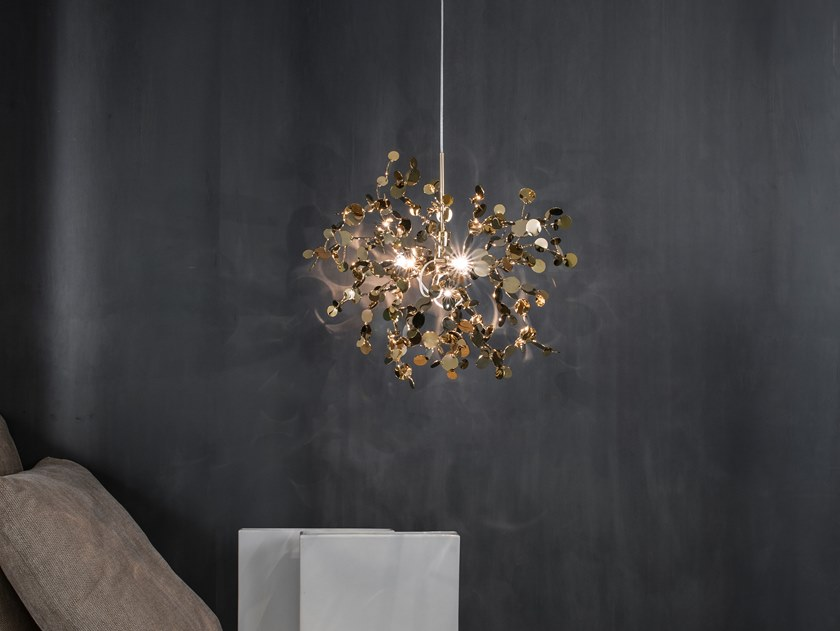 LED metal pendant lamp ARGENT GOLD N90 by TERZANI
