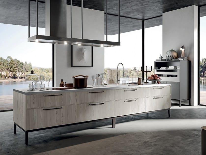 Modulo cucina freestanding laccato a isola ARIA | Modulo ...