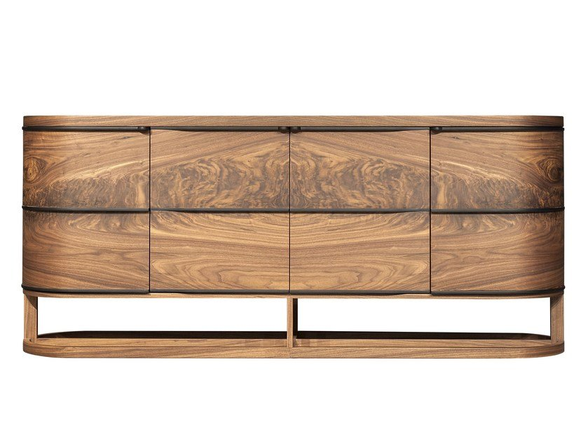 Wood veneer sideboard with doors ARIA | Sideboard by Mobi