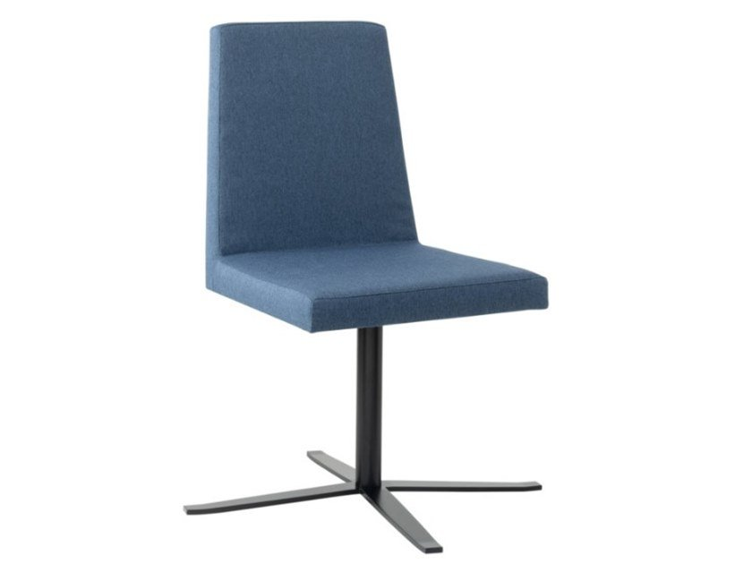 Upholstered fabric chair with 4-spoke metal base ARISA SE01 BASE 24 by New Life