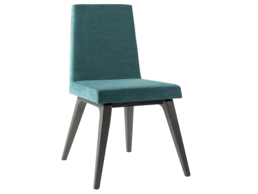 Upholstered fabric chair with lacquered base ARISA SE01 BASE 10 by New Life
