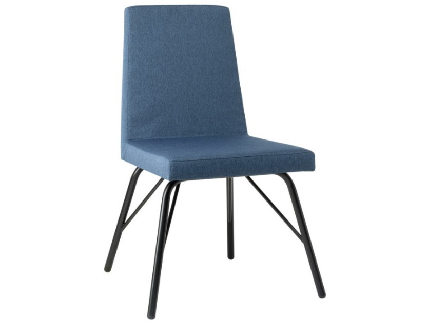 Upholstered fabric chair with metal base ARISA SE01 BASE 21 by New Life