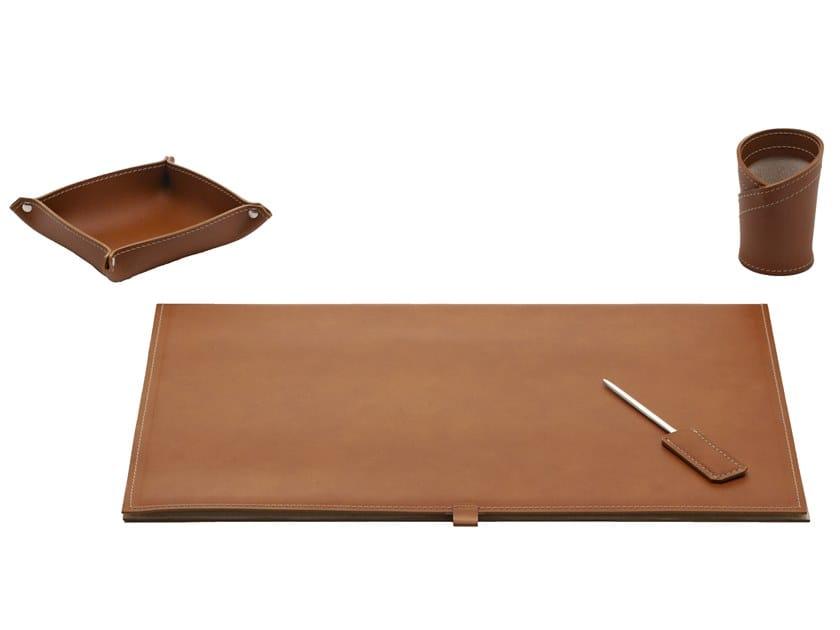 Bonded leather desk set ARISTOTELE 4 PZ by LIMAC design FIRESTYLE