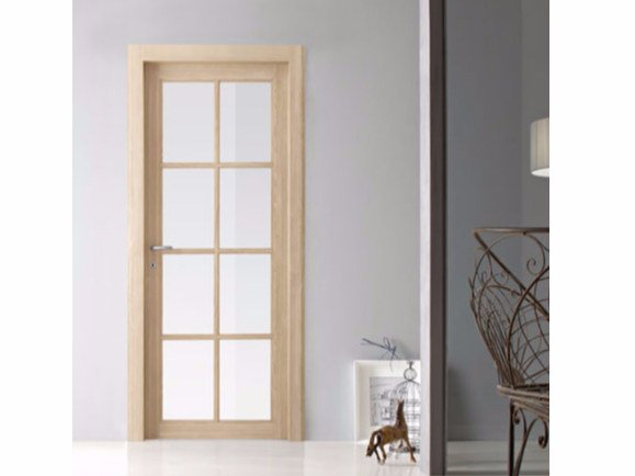 Hinged wood and glass door ARIZONA by Door 2000