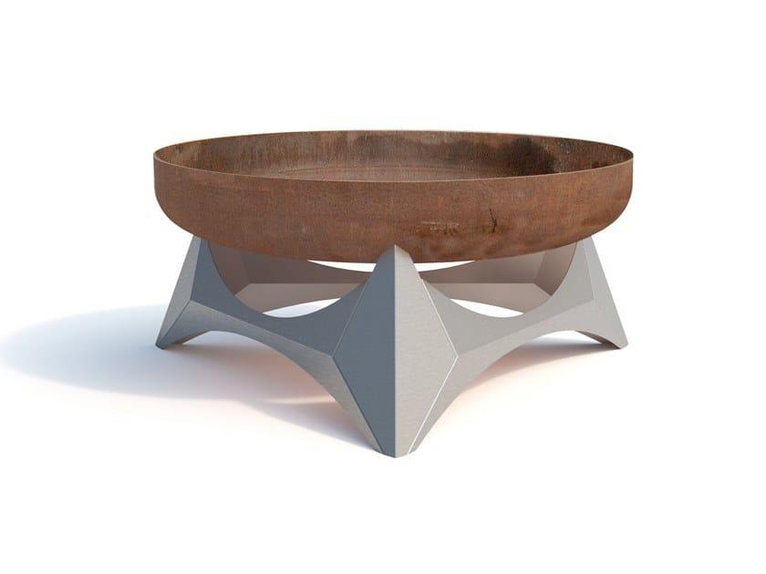 Carbon steel fire baskets ARKA by Arpe studio