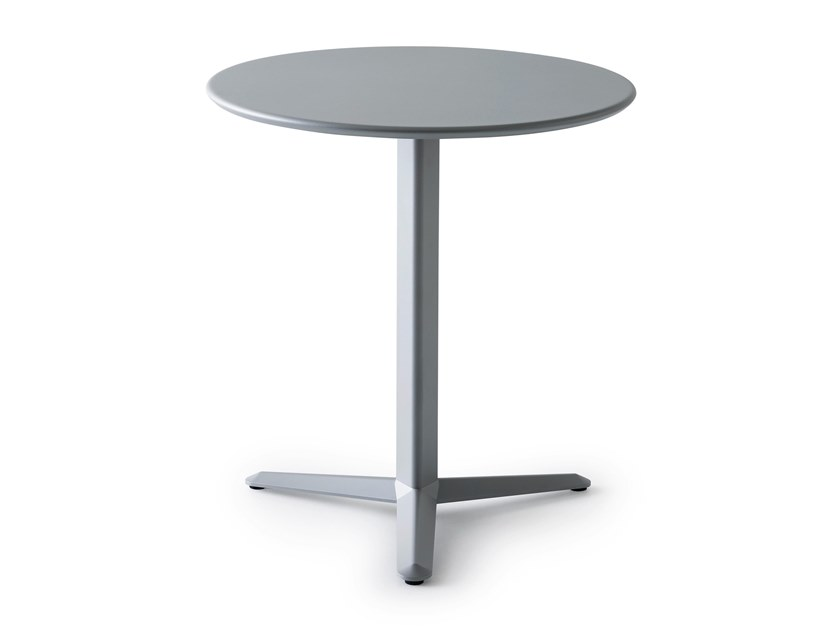 High table with 3-star base in aluminum and steel ARKET | High table by GABER