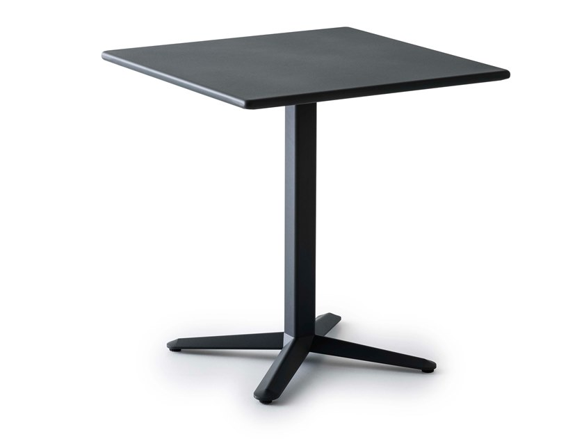 Square table with 4-star base in aluminum and steel ARKET | Aluminium table by GABER
