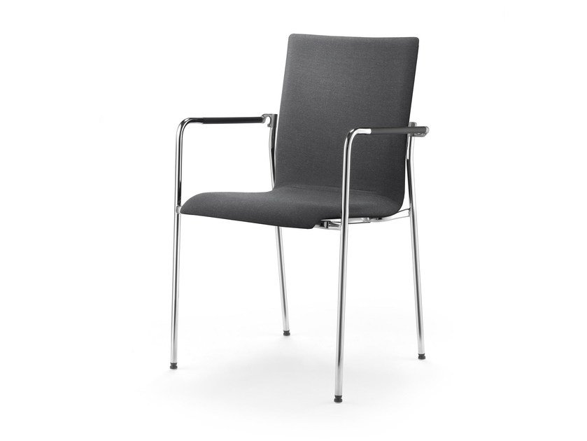 Upholstered fabric chair with armrests ARKETTO | Upholstered chair by rosconi