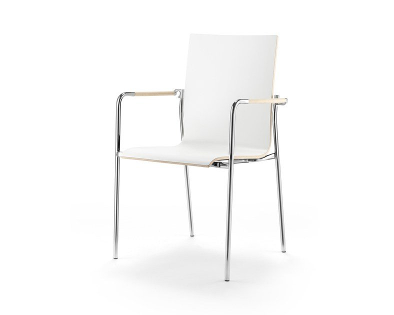 Stackable training chair with armrests ARKETTO | Chair by rosconi