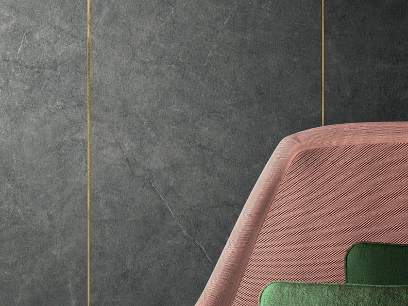 Pavimento/rivestimento in gres porcellanato effetto pietra ARKISTONE DARK by Marca Corona