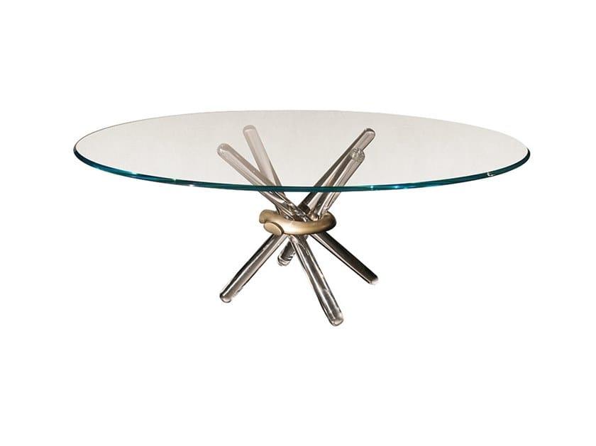 Tavolo da pranzo rotondo in vetro ARLEQUIN | Tavolo by Reflex